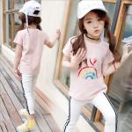 เสื้อ สีชมพู แพ็ค 5 ชุด ไซส์ 120-130-140-150-160 (เลือกไซส์ได้)