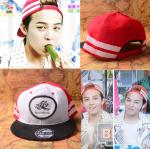 หมวกสีขาวลายแดง แบบ GD