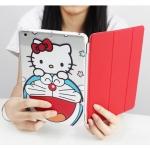 เคส iPad Air 1 พลาสติกโปร่งใสสกรีนลายคิตตี้แสนน่ารัก พร้อมแผ่นหลังพับได้ ราคาถูก