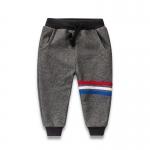 กางเกงเด็กสีเทาเข้มแต่งแถบสีที่ขา [size 2y-3y-4y-5y-6y-7y]
