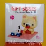 ตัวต่อเลโก้จิ๋ว โมเดลหมีน้อยโครีแลค เป็ดขาว Korilakkuma with ducking car nanoblock 268 ชิ้น
