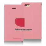 เคสฝาพับ iPhone 6 Goospery Fancy Diary สีชมพูอ่อน by Mercury