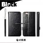 เคสฝาพับ iPhone 6/6s แบรนด์ Leiers Domi Cat สีดำ