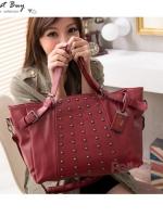 กระเป๋าแฟชั่น PG - 030 สี Red (พร้อมส่ง)