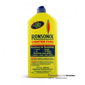 แก๊สกระป๋อง แก๊สเติมไฟแช็ค น้ำมันรอนสัน Ronsonol 355 ml. ขวดใหญ่ 97 บาทเท่านั้น