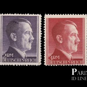 แสตมป์เยอรมัน อดอล์ฟ ฮิตเลอร์ (Adolf Hitler) ดวงใหญ่ สวยมาก ปี 1942 เก่าจัด