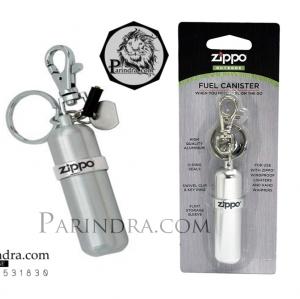 กระป๋องอะลูมิเนียมใส่น้ำมันสำรองสำหรับไฟแช็ค Zippo แท้ - Genuine Compact Aluminum FUEL CANISTER-w-Key Ring-Swivel-Snap