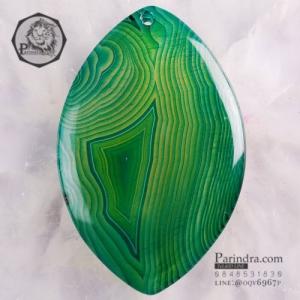 จี้สร้อยคอ AGATE ลวดลายสีเขียวแก่ AGT005