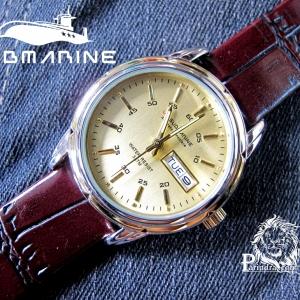 นาฬิกา US submarine รุ่นฺ B042 สายหนังสีน้ำตาล หน้าปัดทองเข็มสีทอง