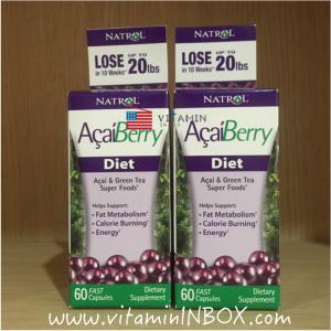 # ลดพิเศษ # Natrol, AcaiBerry Diet, Acai & Green Tea Super Foods, 60 Fast Capsules