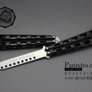 มีดบาลีซอง Balisong มีดควง มีดปีกผีเสื้อ ไม่มีคม สำหรับการฝึกควง สีดำ ขนาด 9 นิ้ว BLA021