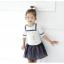 เสื้อ+กระโปรง สีขาว แพ็ค 5ชุด ไซส์ 100-110-120-130-140 thumbnail 3