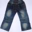 CNJ021 กางเกงยีนส์ เด็กหญิง ขายาว ผ้าฟอกอัดยับ ผ้านิ่มใส่สบาย แต่งลายเก๋ ๆ ปักเลื่อม กระเป๋าหลังสองข้าง Size 15/18 thumbnail 2