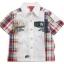 K493SA Kidsplanet เสื้อผ้าเด็กชาย เชิ้ตแขนสั้นสีขาว ด้านข้างและด้านหลังเป็นลายตาราง โทนน้ำเงินแดง สกรีนลายตรงอก กระเป๋าเก๋ ๆ ที่แขน เหลือแต่ Size 12M thumbnail 1