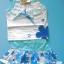 BON055 Kartoon เสื้อยืดสายเดี่ยวเด็กผู้หญิงสีขาว ปักแปะดอกไม้ + กระโปรงพิมพ์ลาย สีฟ้า เหลือ Size 3 ขวบ thumbnail 1