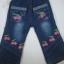 CNJ013 กางเกงยีนส์ เด็กหญิง ขายาว ผ้านิ่มใส่สบาย ปักลายเชอรี่ ตกแต่งระบายตรงกระเป๋าหน้าสองข้างและปลายขา Size 15/16 thumbnail 1