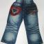 CNJ019 กางเกงยีนส์ เด็กหญิง ขายาว ผ้าฟอกอัดยับ ผ้านิ่มใส่สบาย แต่งลายเก๋ ๆ กระเป๋าหลังสองข้าง Size 15/16 thumbnail 2