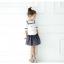 เสื้อ+กระโปรง สีขาว แพ็ค 5ชุด ไซส์ 100-110-120-130-140 thumbnail 4