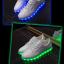 รองเท้าผ้าใบมีไฟ LED สีขาว (เปลี่ยนสีได้ 7 สี) thumbnail 12