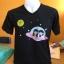 สกรีนเสื้อยืดสีดำ ลายอวกาศน่ารักๆสีสันสดใส thumbnail 1