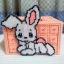 กล่องทิชชู pop-up สีโอรส ลายกระต่ายน้อย thumbnail 1