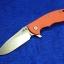 """RHK XM-18 3.5"""" SLICER Blade Orange G10"""