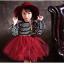 ชุดกระโปรง สีแดง แพ็ค 5ชุด ไซส์ 100-110-120-130-140 thumbnail 1