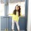 เสื้อ สีเหลือง แพ็ค 5ชุด ไซส์ 100-110-120-130-140 thumbnail 1