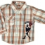 SH004 เสื้อเชิ้ตเด็กแขนยาว ผ้าคอตตอน ลายตารางสีแดงอมส้ม กระเป๋าตรงอก สกรีน International Sport Winner Cup Size 8/10/12 thumbnail 1