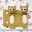 ที่หุ้มเข็มขัดนิรภัยไหมพรม หมีน้ำตาลติดดอกไม้ thumbnail 2