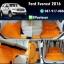 โรงงานพรมกระดุมเข้ารูปปูพื้นรถยนต์ Ford Everest 2016 ลายจิ๊กซอร์สีส้มขอบส้ม thumbnail 1