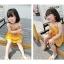 ชุดเดรสสายเดี่ยวสีเหลือง [size 2y-3y-4y-5y-6y] thumbnail 2
