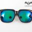 แว่นกันแดดเด็ก กรอบสีดำเลนส์เขียวเหลือบฟ้า แพ็ค 3 ชิ้น thumbnail 2