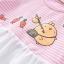 ชุดเดรสสั้นลายขวางสีชมพู [size 3m-6m-1y-2y-3y] thumbnail 3
