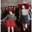 ชุดกระโปรง สีแดง แพ็ค 5ชุด ไซส์ 100-110-120-130-140 thumbnail 5