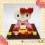 ตัวต่อเลโก้จิ๋ว เฮลโหลคิตตี้ชุดกิโมโน Hello Kitty in kimono costume nanoblock thumbnail 1