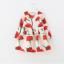ชุดกระโปรง สีขาวดอกสีแดง แพ็ค 5ชุด ไซส์ 100-110-120-130-140 thumbnail 1