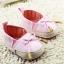 รองเท้าหัดเดินเด็กเล็กลายแต่งโบว์สีชมพู [size 11-12] thumbnail 1