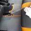 พรมรถยนต์สั่งตัด MG3 ลายกระดุมสีเทาขอบส้ม + ท้าย + พับเบาะ thumbnail 5