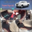 ผ้ายางปูพื้นรถยนต์ Toyota Vigo 4 ประตู ลายกระดุมสีดำขอบแดง thumbnail 1