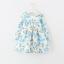 ชุดกระโปรง สีขาวดอกสีฟ้า แพ็ค 5ชุด ไซส์ 100-110-120-130-140 thumbnail 1