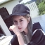 หมวกแฟชั่นเกาหลี หมวกเบสบอล พร้อมห่วงติดปีกหมวก สีดำ thumbnail 1