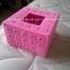 กล่องทิชชูแผ่นเฟรม Pop up สีชมพู (ทำสำเร็จ) thumbnail 1