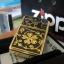 """ไฟแช็ค Zippo แท้ บุปผาทองคำ """"Zippo 20903, Gold Floral Emblem Brushed Brass"""" แท้นำเข้า 100% thumbnail 2"""