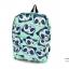 กระเป๋าเป้ผ้า ไซส์M สายสะพายซับฟองน้ำนุ่มแต่งลายหมีแพนด้า