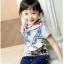 ND1004 BBQ เสื้อยืดเด็กแนวสไตล์เกาหลี สกรีนลายโรลเลอร์สเก็ต เก๋ไก๋ มีสีขาว และ สีเทา Size 90/100/110/120/130 thumbnail 3