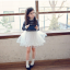 ชุดกระโปรง สีขาว แพ็ค 5ชุด ไซส์ 100-110-120-130-140 thumbnail 1
