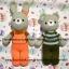 ตุ๊กตาถัก กระต่ายชุดเอี๊ยม thumbnail 4