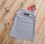 เสื้อ สีเทา แพ็ค 5ชุด ไซส์ 90-100-110-120-130 thumbnail 4