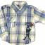 SH005 เสื้อเชิ้ตเด็กแขนยาว ผ้าคอตตอน ลายตารางสีน้ำเงิน กระเป๋าตรงอก สกรีน International Sport Winner Cup Size 8/10/12 thumbnail 1